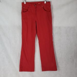 BLUE WILLI'S red high rise relaxed fit Jean's 38